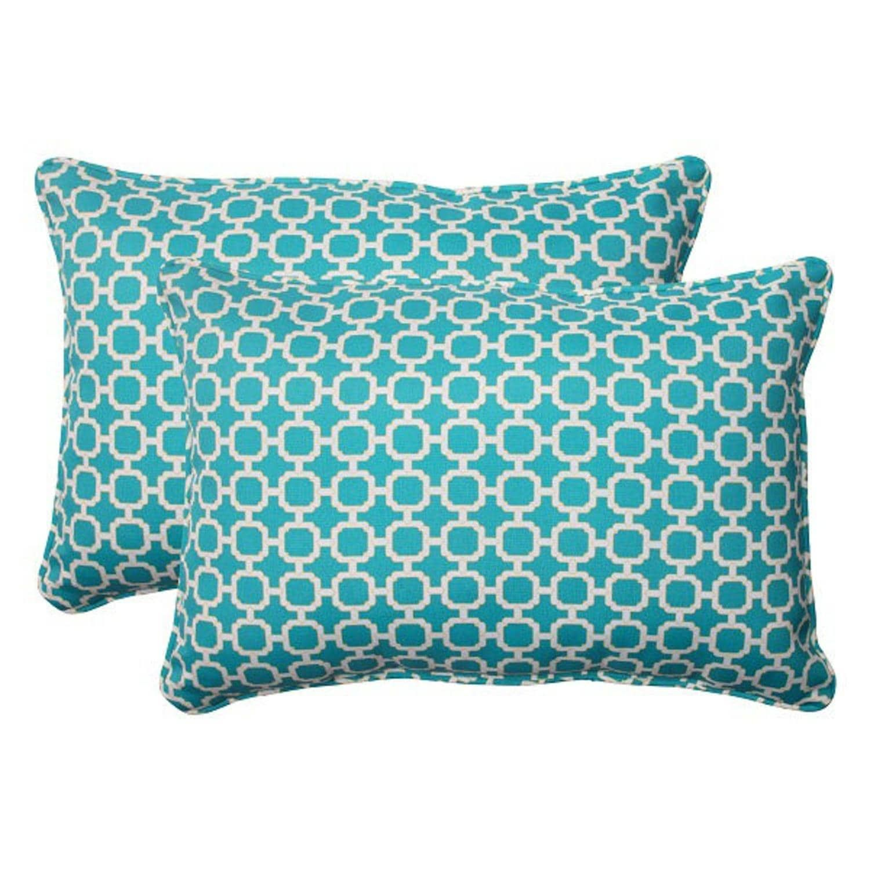 set of 2 moroccan mosaic blue outdoor furniture rectangular throw