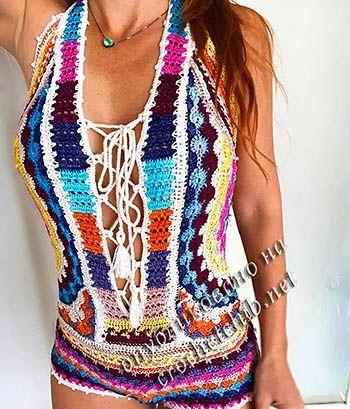 блузы кофточки Bikini Bathing Suit Pinterest Crochet Crochet