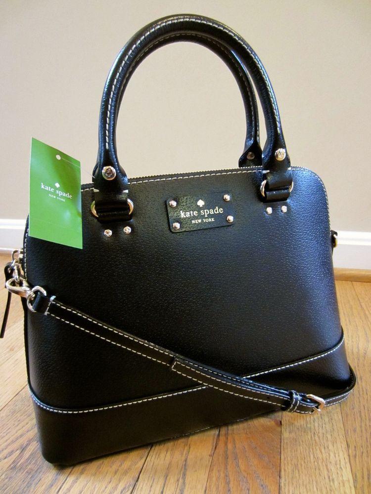 Kate Spade Wellesley Small Rachelle Black Leather Handbag Bag Purse Satchel Nwt Katespade