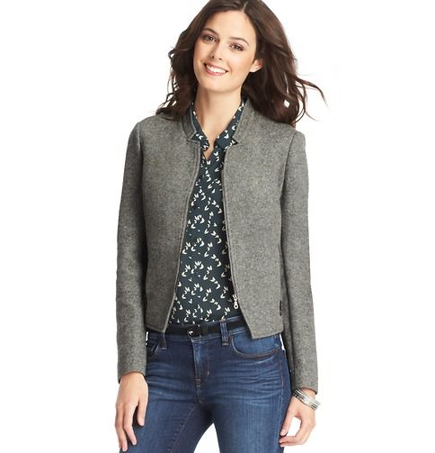 Doubleweave Cotton Moto Jacket | Loft