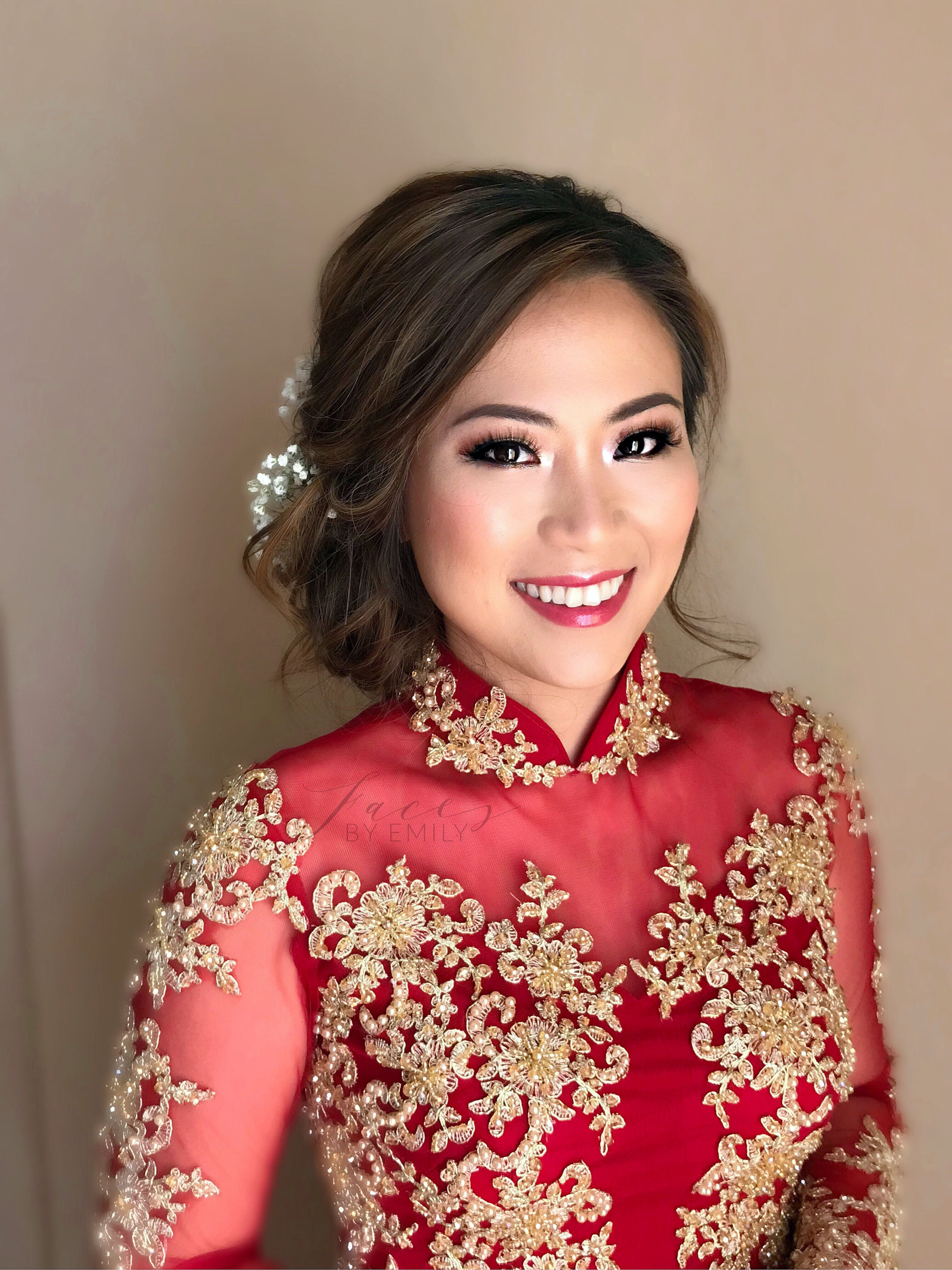 bride in vietnamese traditional dress #aodai