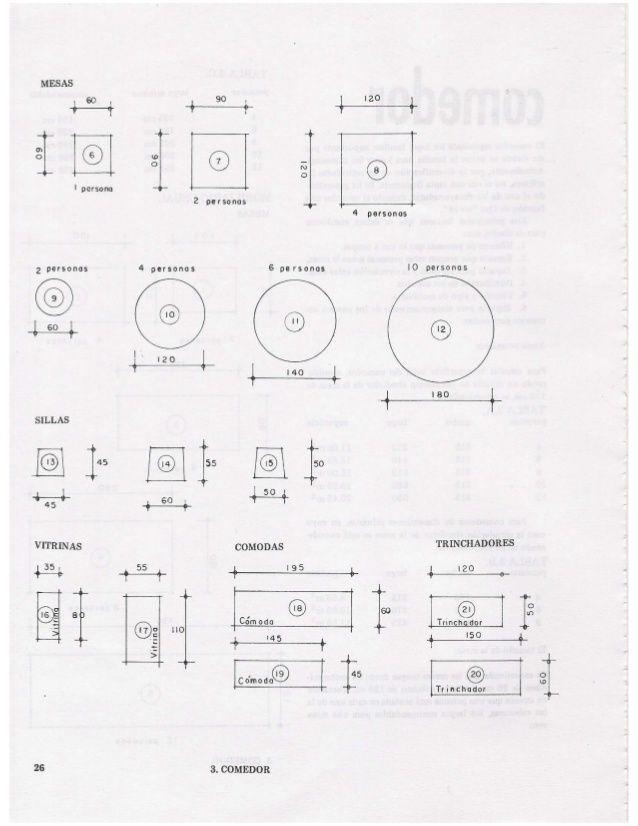 Las medidas de una casa xavier fonseca archivo de plano for Mesa 8 personas medidas
