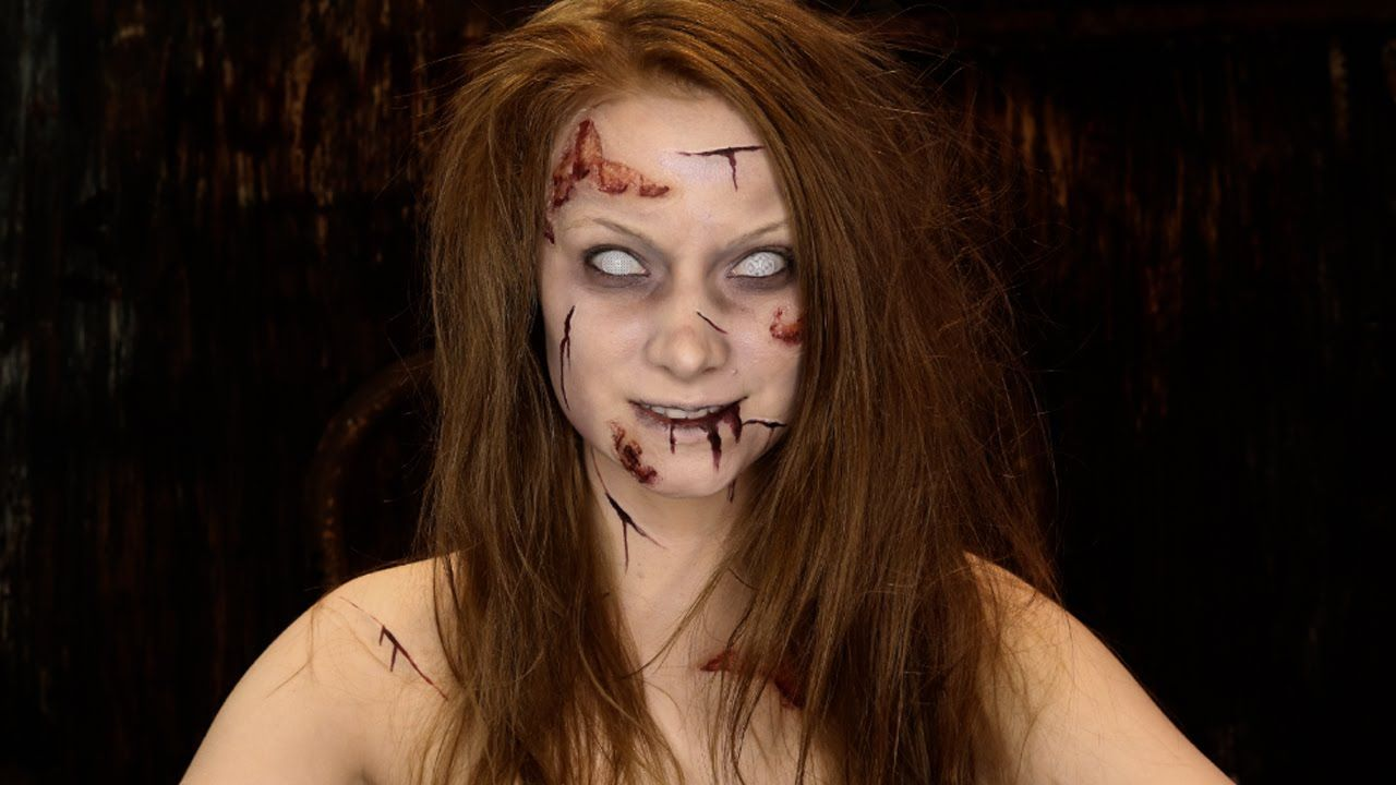 The exorcist makeup tutorial on make a gif.