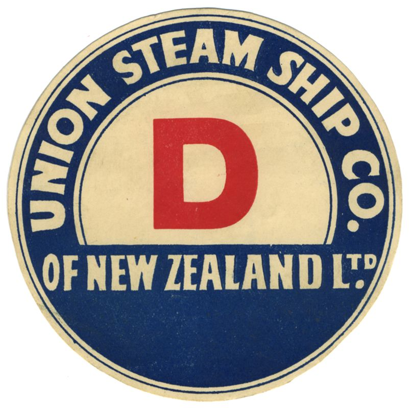 Union Steam Ship Co. Of New Zealand Ltd. (Luggage Label