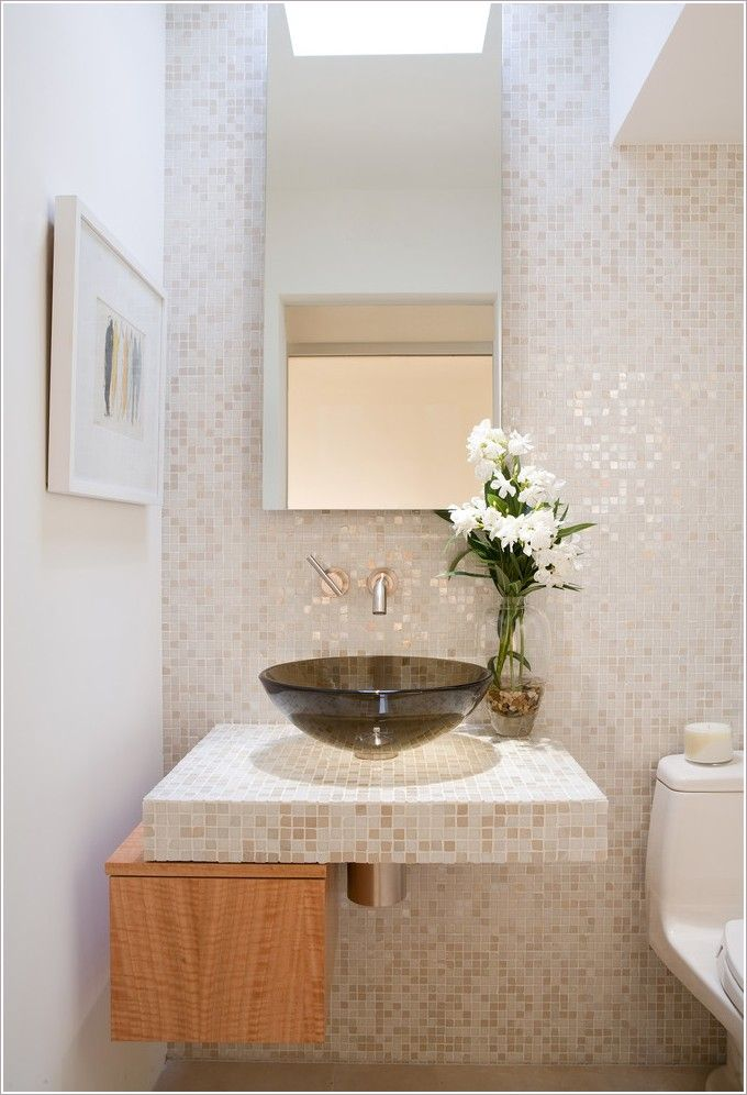 Slim Sinks For Powder Rooms Thanks To Mark Nichols
