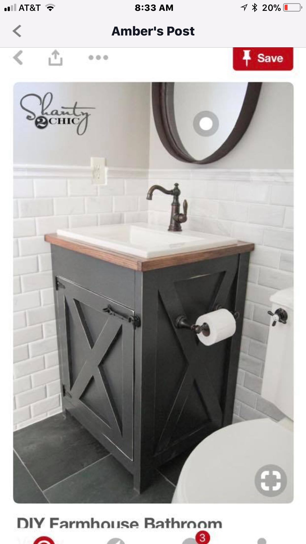 Pin By Sherry Knecht On Bathroom Updates Diy Bathroom Vanity
