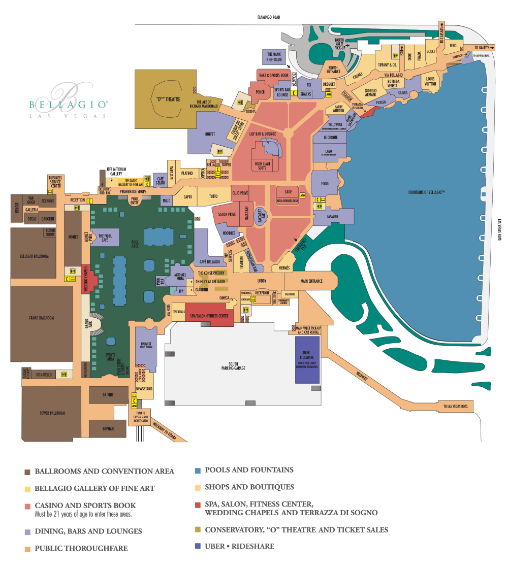 Bellagio Casino Property Map Floor Plans Las Vegas In 2020 Las Vegas Hotels Bellagio Las Vegas Las Vegas Trip