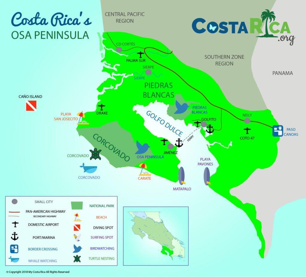 osa costa rica map Osa Peninsula Costa Rica Map Costa Rica Map Osa Peninsula Costa Rica Costa Rica osa costa rica map