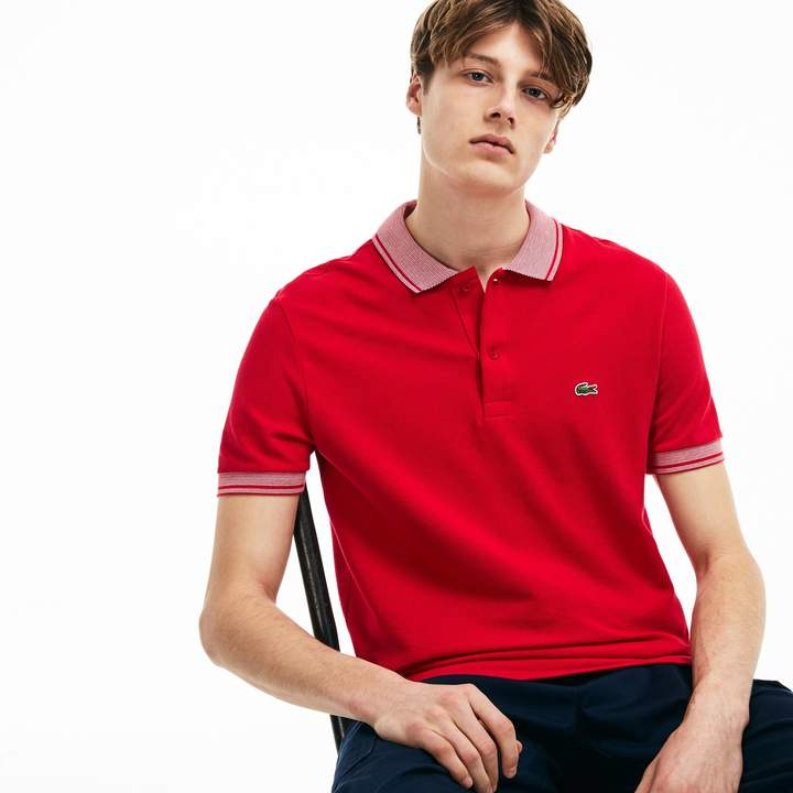8abe6fd8aad43 Men's Regular Fit Piped Piqué Polo in 2019 | Products | Polo, Pique, Men