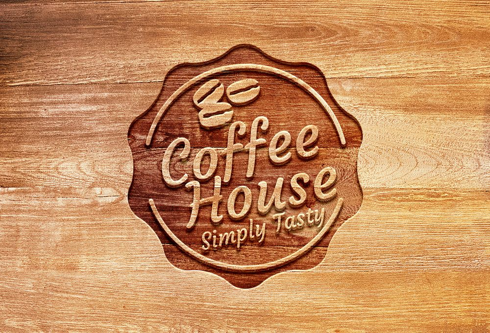 Carved Wood Logo Mockup Psd Graphicsfuel Free Logo Mockup Logo Design Mockup Logo Mockup