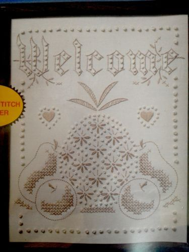 Vintage Paragon Candlewick Kit Welcome Pineapple Fruit Hearts Candlewicking New