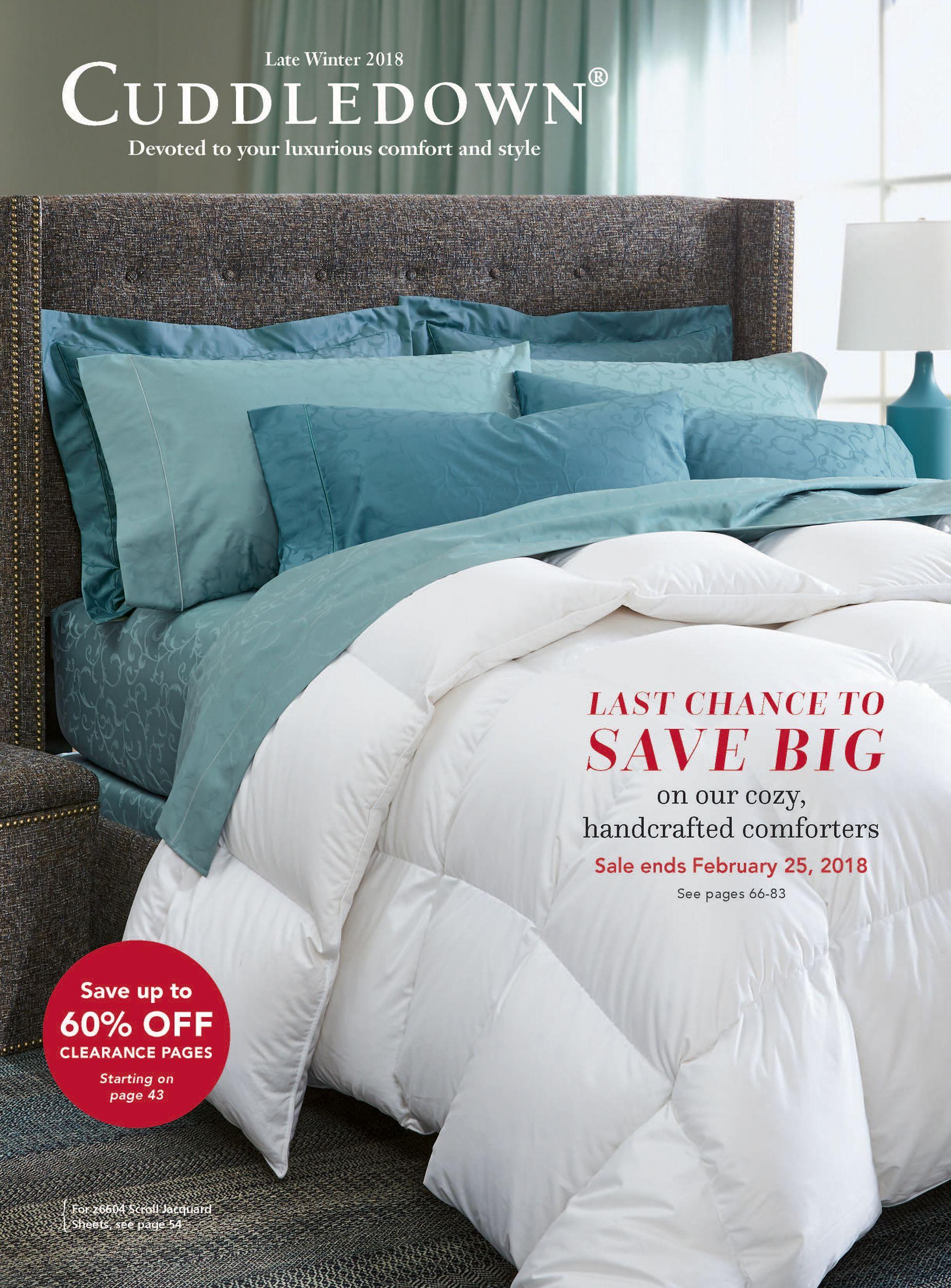 Cuddledown Winter 2018 Catalog Comfortersale Flannelsale