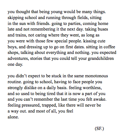 This Is One Of The Truest Things Ive Ever Read About High School