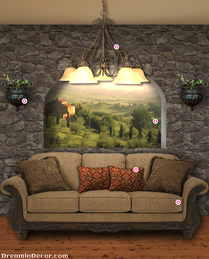 Tuscan Style Sofa In Your Living E