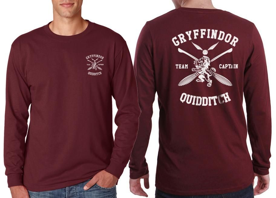 5406ae17 Slytherin CAPTAIN Quidditch Team Back pocket front Long Sleeve T-shirt for  Men PA New | Potterhead | Mens tops, Long sleeve, Clothes