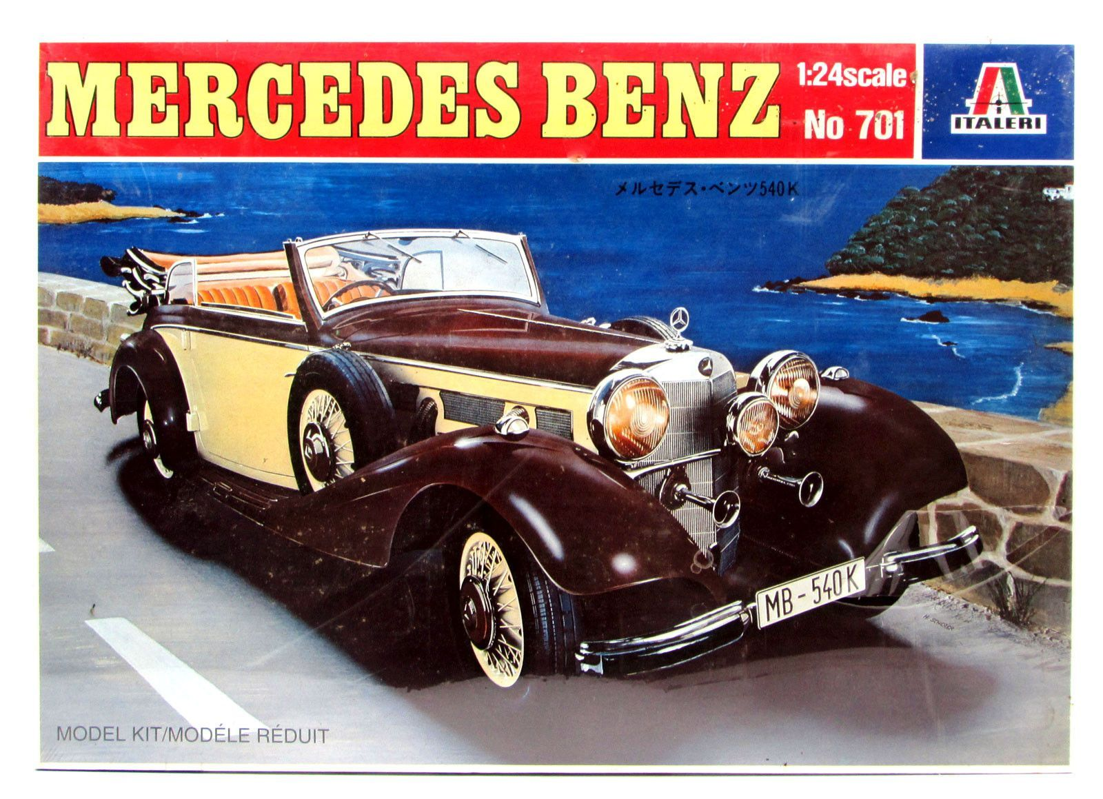 Mercedes-Benz 540K 1/24 Scale Italeri #701 New Discontinued ...