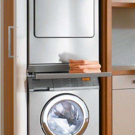 Haushaltsraum Trockner Und Waschmaschine übereinander Wtv419