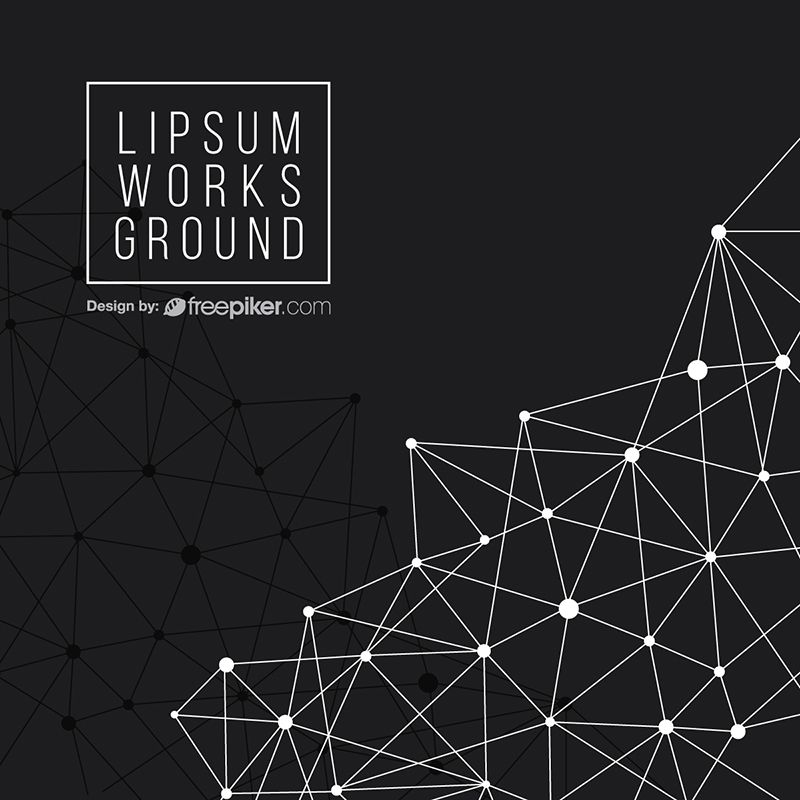 Geometric Abstract Polygon Black Background