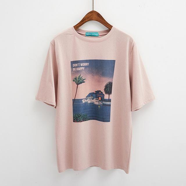 Retro oversized tshirt | Casual shirt women, Aesthetic t shirts ...