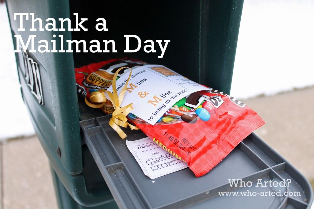 Thank A Mailman Day Homemade Gifts Neighbor Gifts Mailman