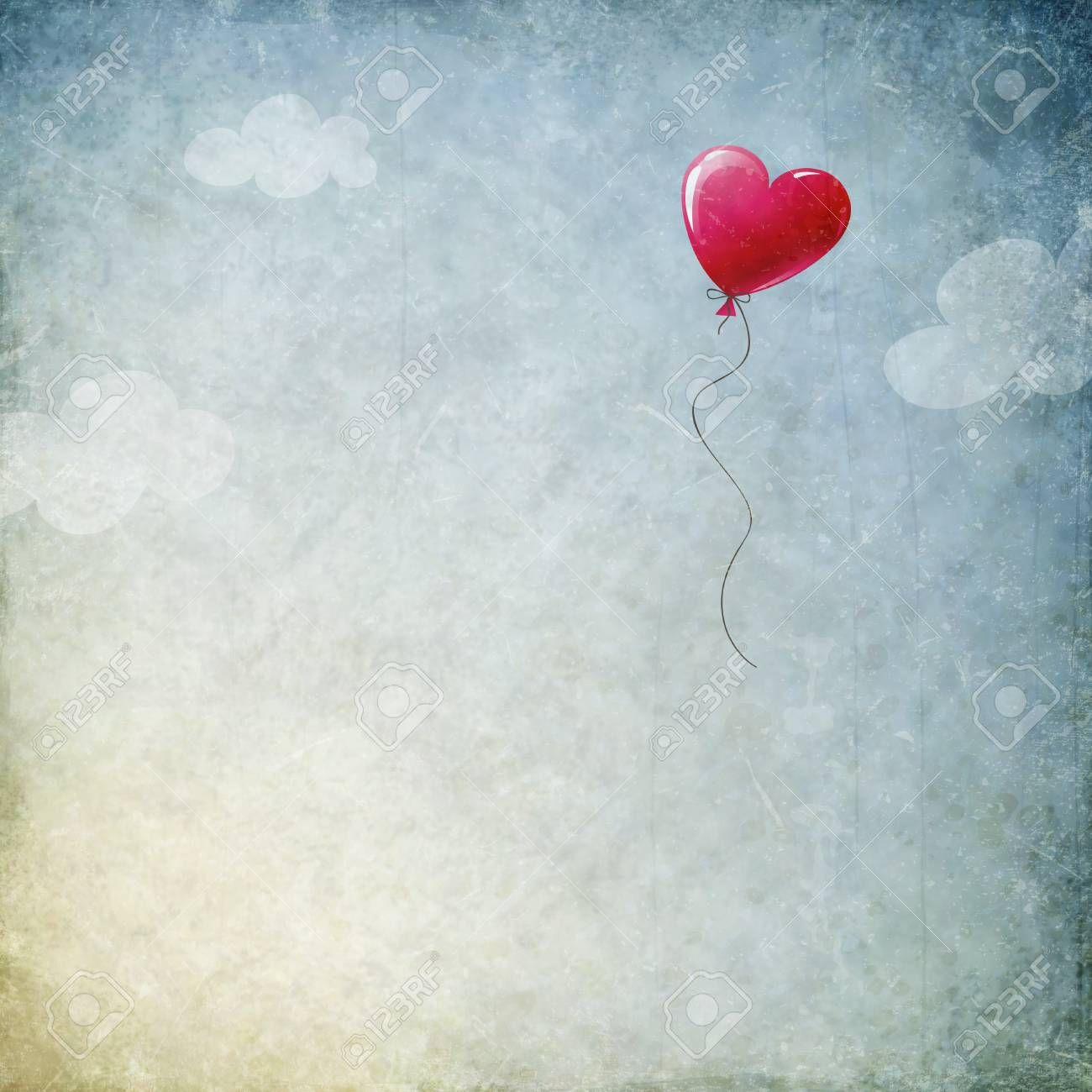 grunge background with heart balloon , #Ad, #background, #grunge, #balloon, #heart