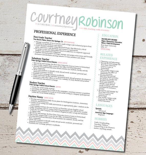 the resume template design marketing