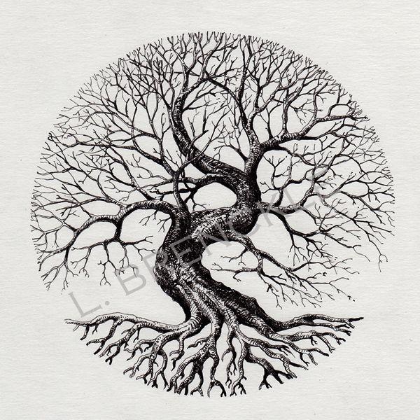 Circle Tree Circle Tattoos Tree Tattoo Designs Tree Of Life Tattoo