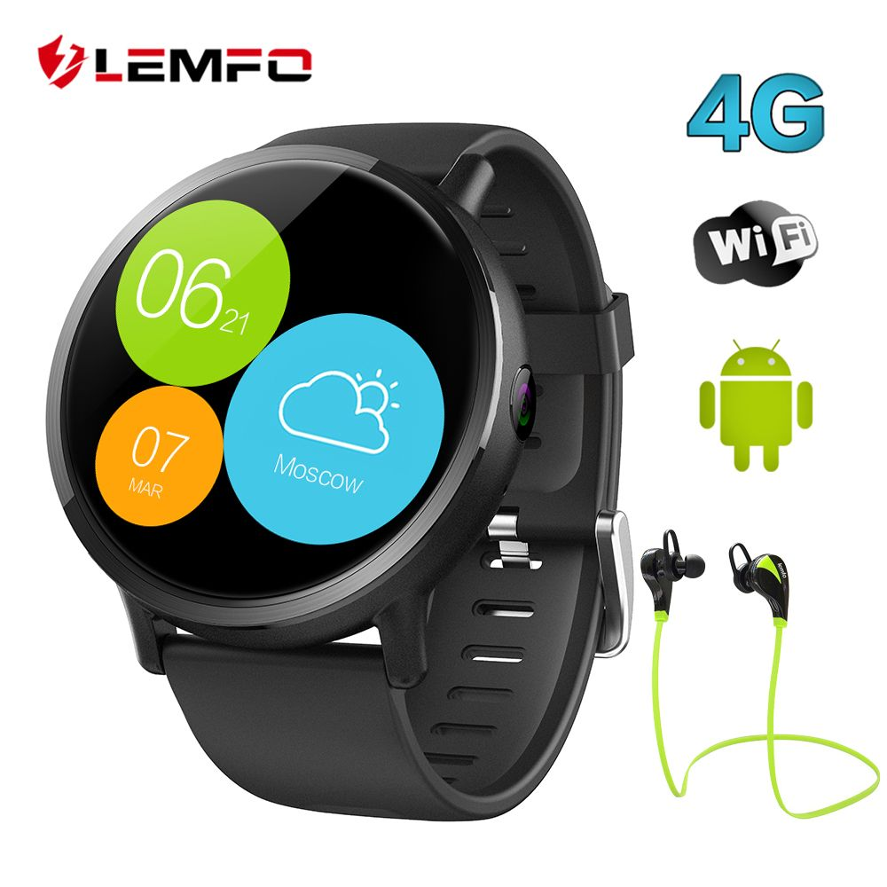 LEMFO LEMX Android 7.1 4G Smart Watch Phone 1GB + 16GB 2