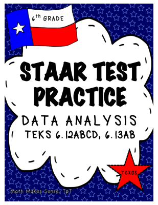 Staar test practice data analysis new teks grade 6 math from staar test prep this document includes two assessments over data analysis teks and for grade math there are 18 multiple choice questions and 2 gridded fandeluxe Gallery