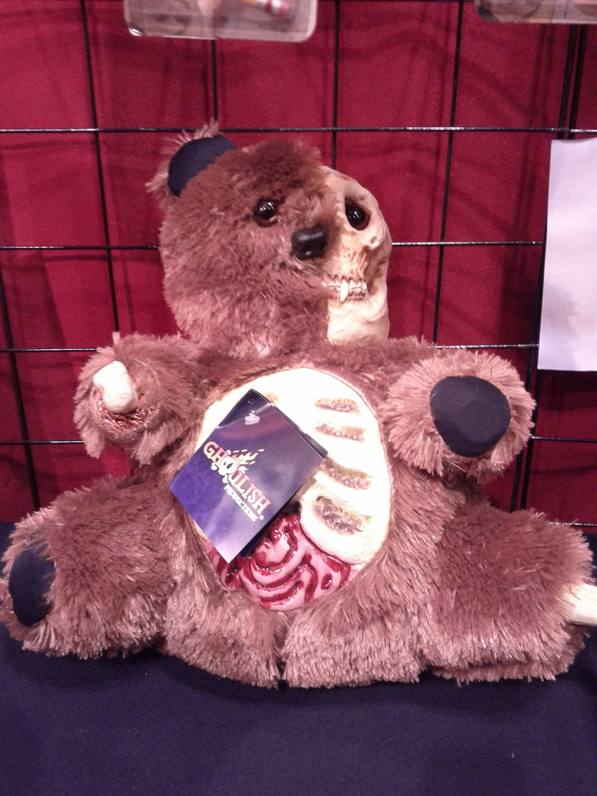 Scary Teddy Bear from Ghoulish Productions booth at the Halloween ...