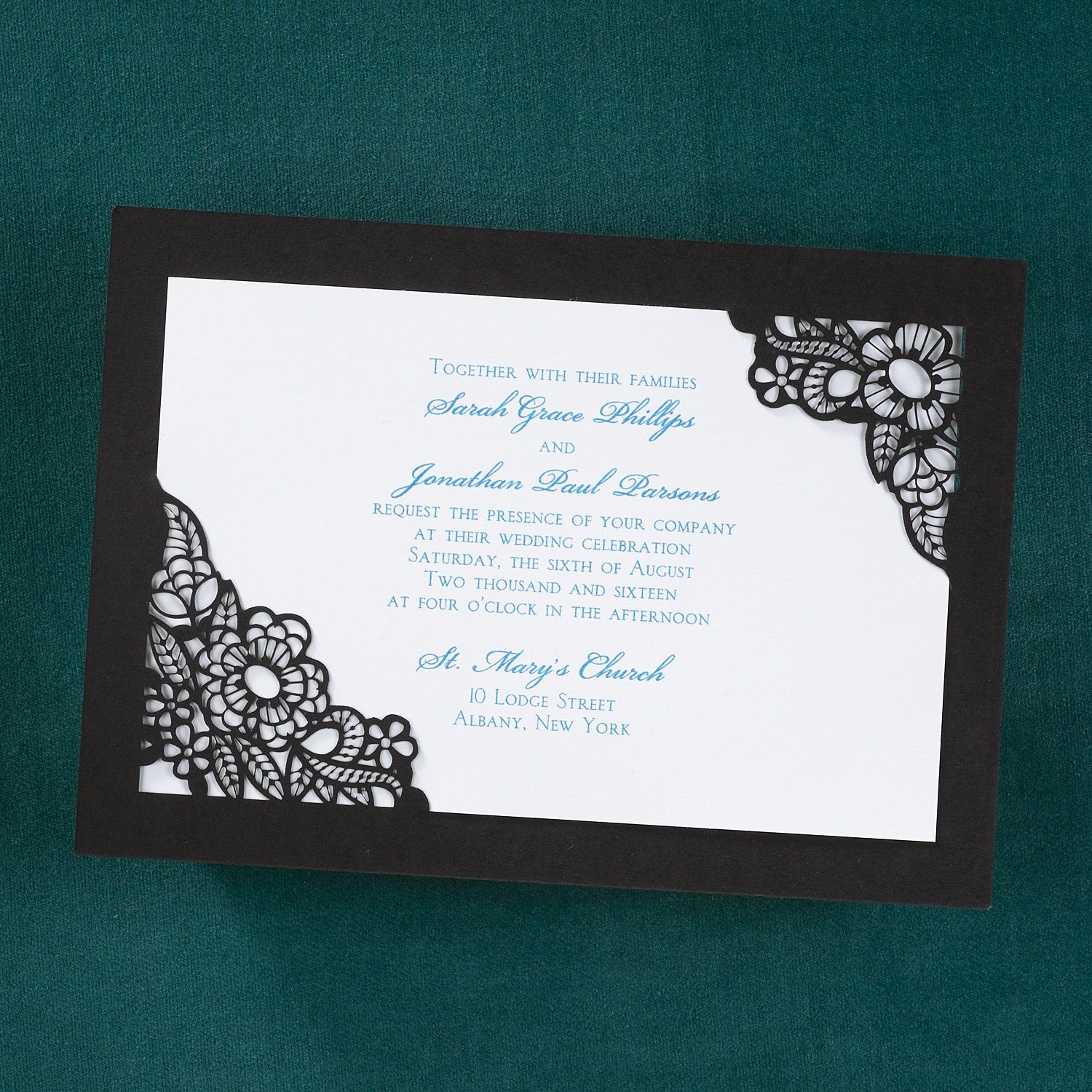 Add whimsy to your special event with this bright white invitation ...