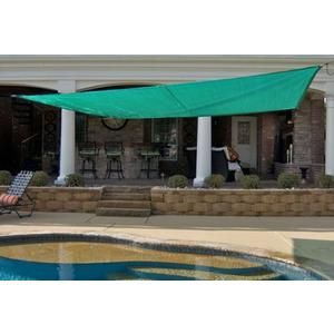 King Canopy Pc2001216g 16 Feet By 16 Feet Quadrilateral Sun Shade Sail Green Discontinued By Manufacturer Sears Shade Sail Sun Sail Shade Patio Canopy