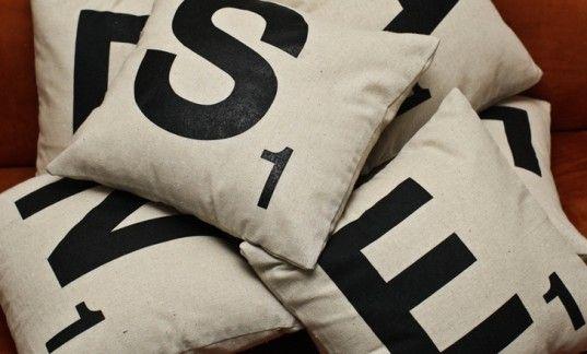 Scrabble pillows :)