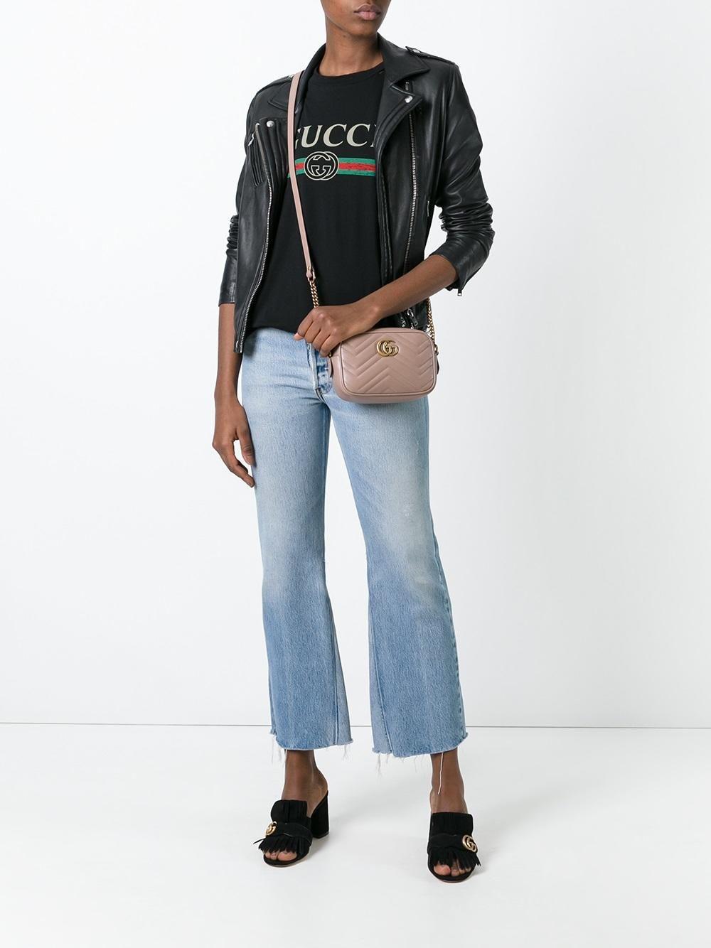 07684343 Shop Gucci mini GG Marmont matelassé shoulder bag. Gucci GG Marmont  crossbody bag Gucci Marmont Mini, Gucci Crossbody Bag, Cute Jeans,