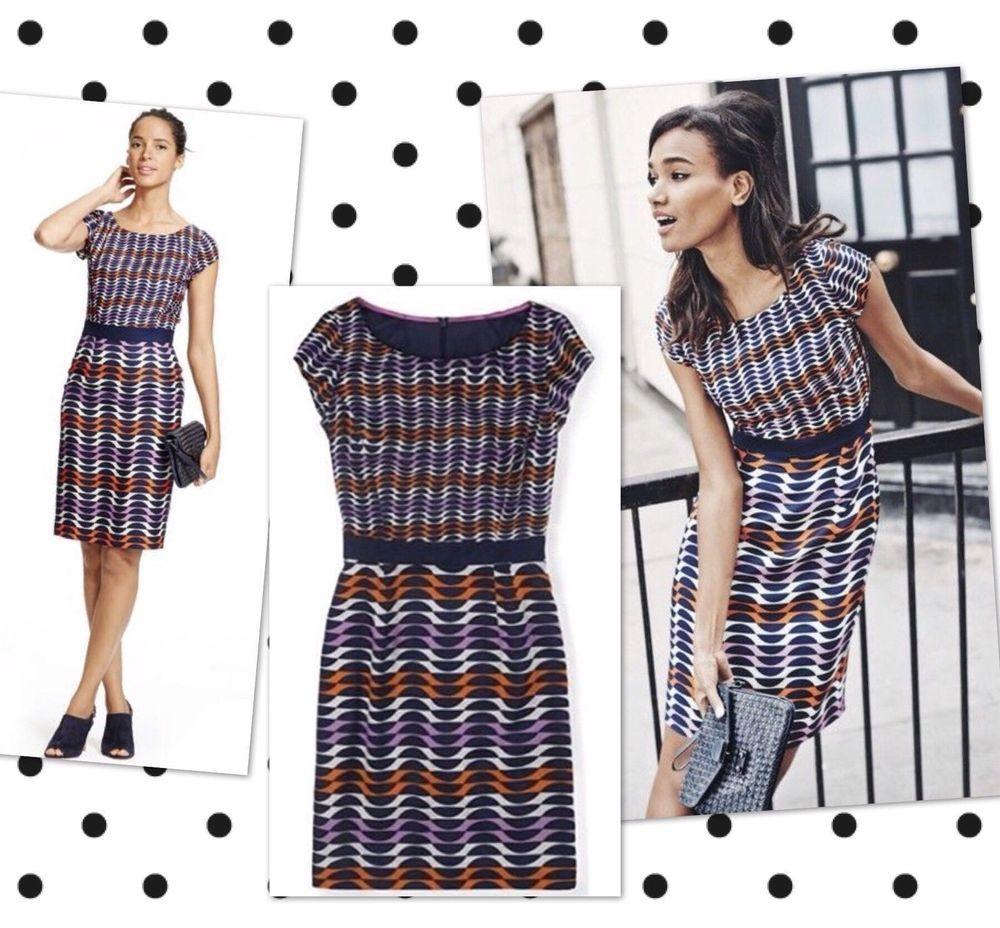 X BODEN CHIC  Kensington Dress SIZE 14R