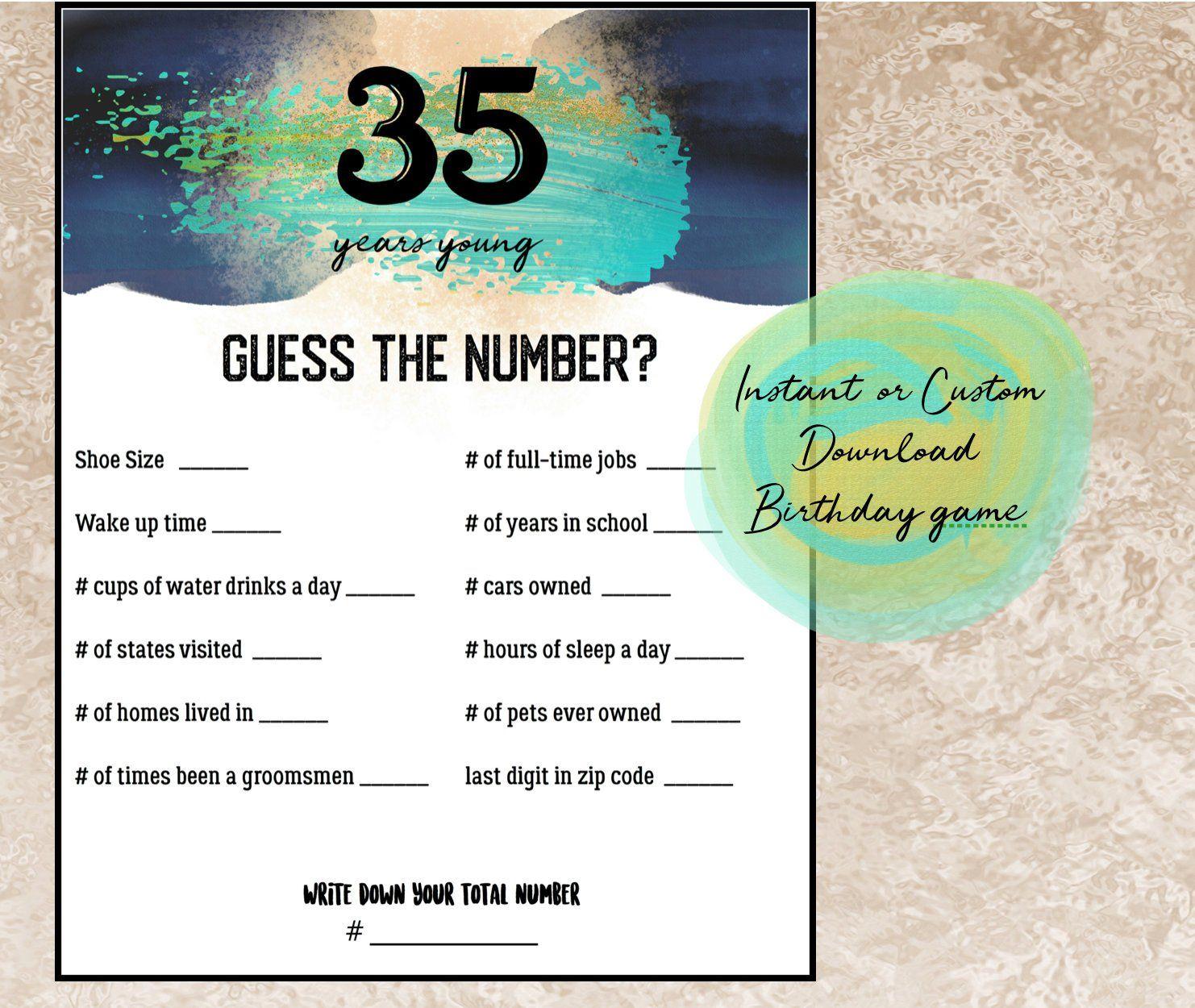Items Similar To 1947 Birthday Trivia Game: Birthday Trivia Game