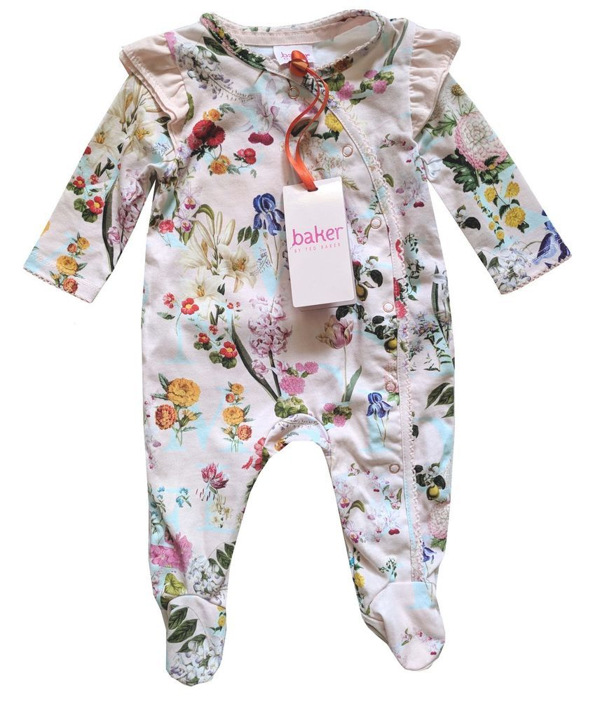 51bbf8119dc58b Ted Baker Baby Girl Romper Sleepsuit Bodysuit Floral Pink DESIGNER Newborn  Gift