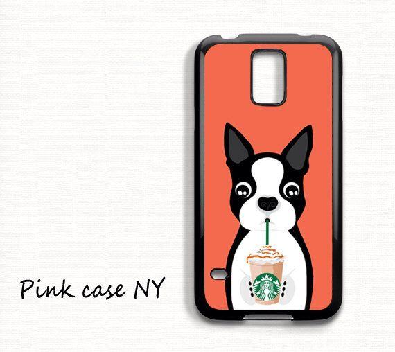 Samsung Galaxy S6, Samsung Galaxy S5, Samsung Galaxy S4 - I love Starbucks - Boston Terrier by PinkCaseNY on Etsy https://www.etsy.com/listing/238833806/samsung-galaxy-s6-samsung-galaxy-s5
