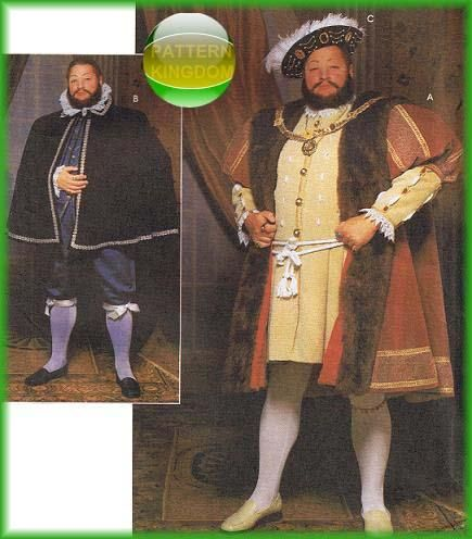 King Henry VIII Tudor Court Costume Patterns - does anyone ...