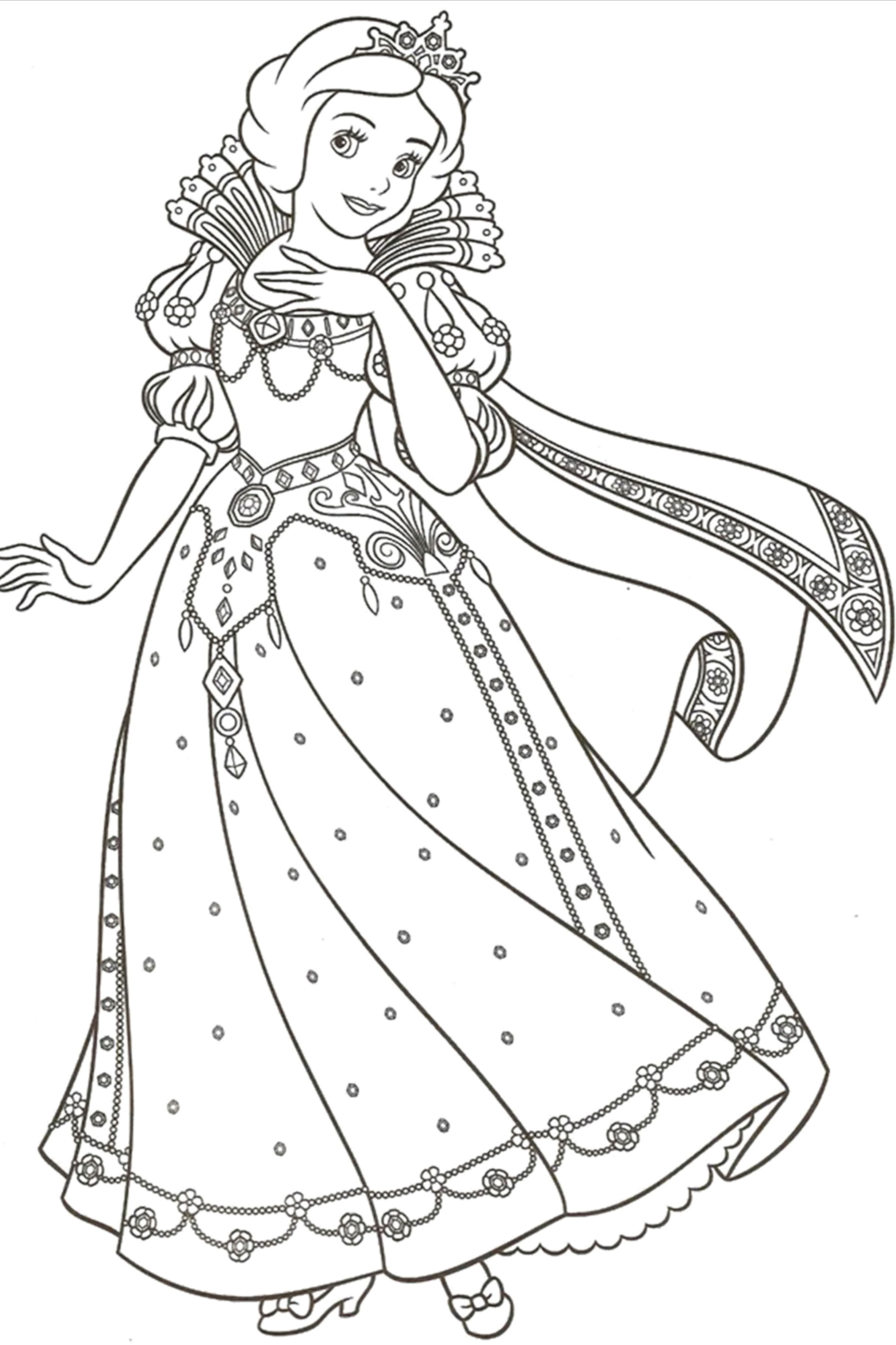 100 Princess Coloring Pages For Kids Disney Princess Coloring Pages Princess Coloring Pages Cinderella Coloring Pages