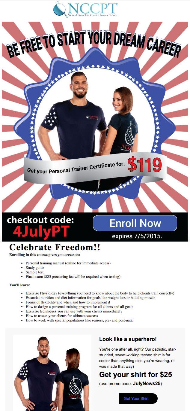 Get Your Personal Trainer Certification 119 Nccpt Fitness Fit