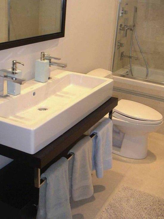 double sink small bathroom trough sink