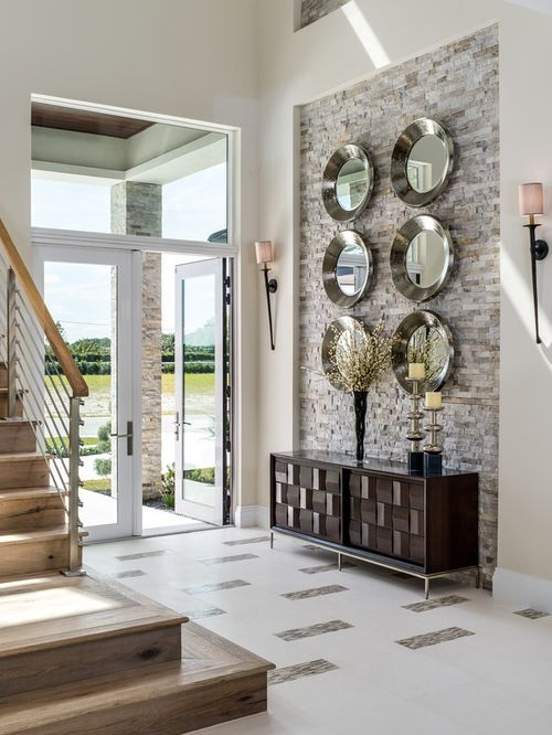 Best Entryway With Beige Walls Design Ideas Remodel Pictures