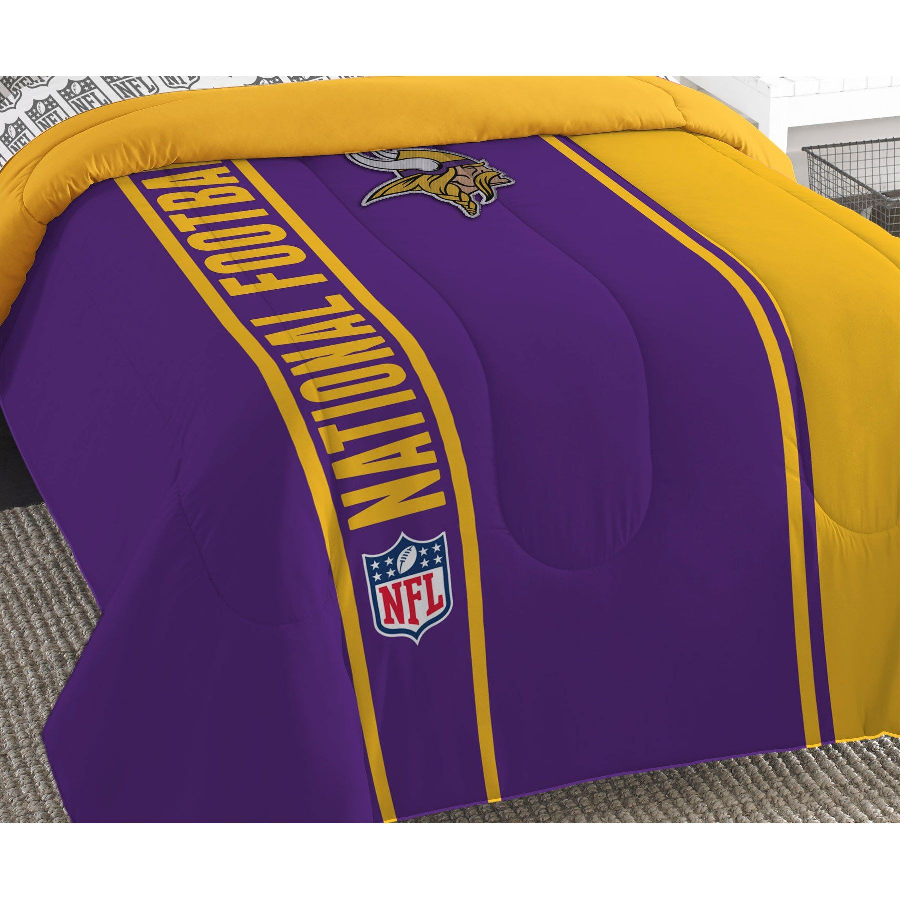 NFL Minnesota Vikings Bed Comforter Set Football Team Logo