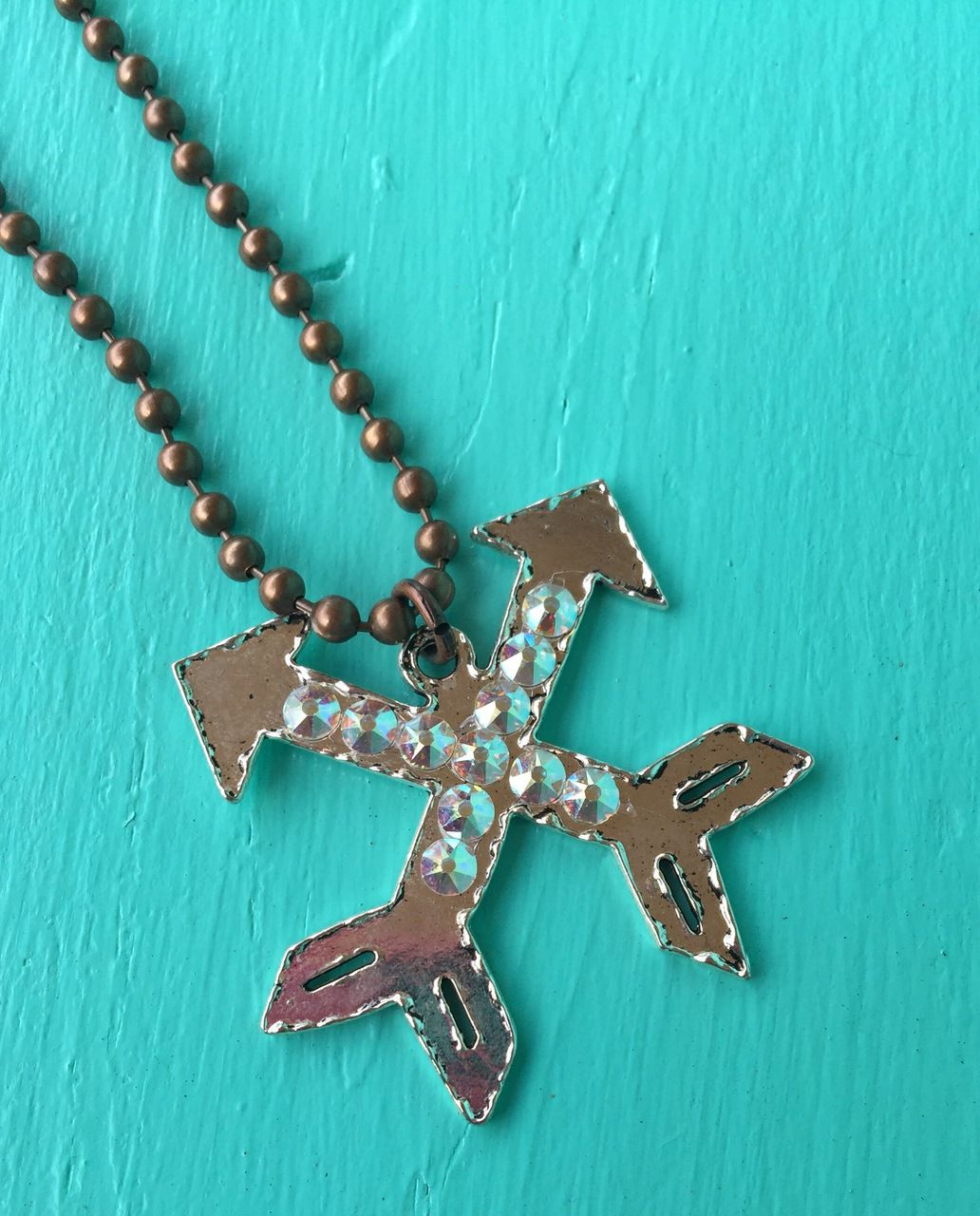 The Bling Box - Arrow Ball Chain Necklace, $26.99 (http://www.theblingboxonline.com/arrow-ball-chain-necklace/)