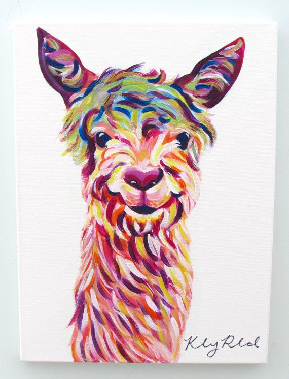 Llama Painting 1216 by Kelsey Rowland by CreatedbyKelseyArt