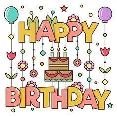 最高の壁紙 人気の壁紙 お誕生日おめでとう 文字 イラスト ハッピーバースデー イラスト Birthdayカード バースデーカード
