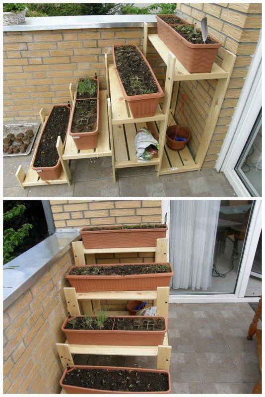 Need a herb garden terrace hack one from the gorm hejne for Outdoor decorating hacks