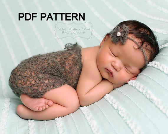 ebe0a20d97f Crochet Pattern - Newborn baby Mohair strapless Romper - PDF ...
