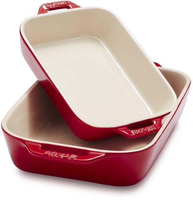 Staub Ceramic Rectangular Baking Dishes Set Of 2 Dishes Baked
